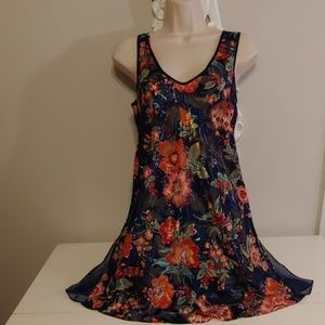 Victoria's Secret vintage 80s floral chemise